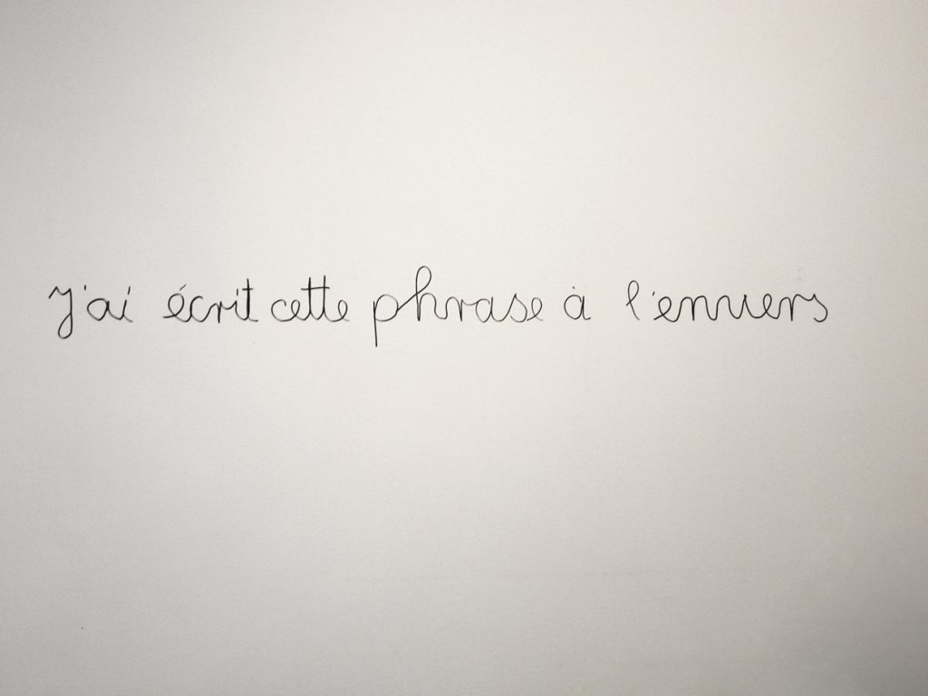 permanent pen on wall, dimensions variable