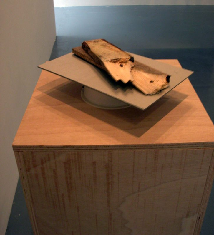 wood, carboard, motor, 30 x 21 x 7 cm