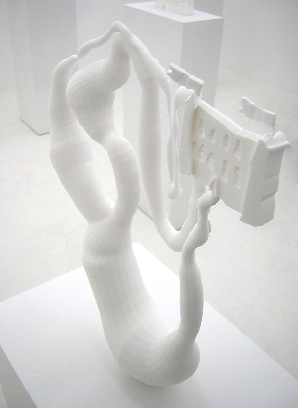 resin (stereolithography), dimensions variable, unique work