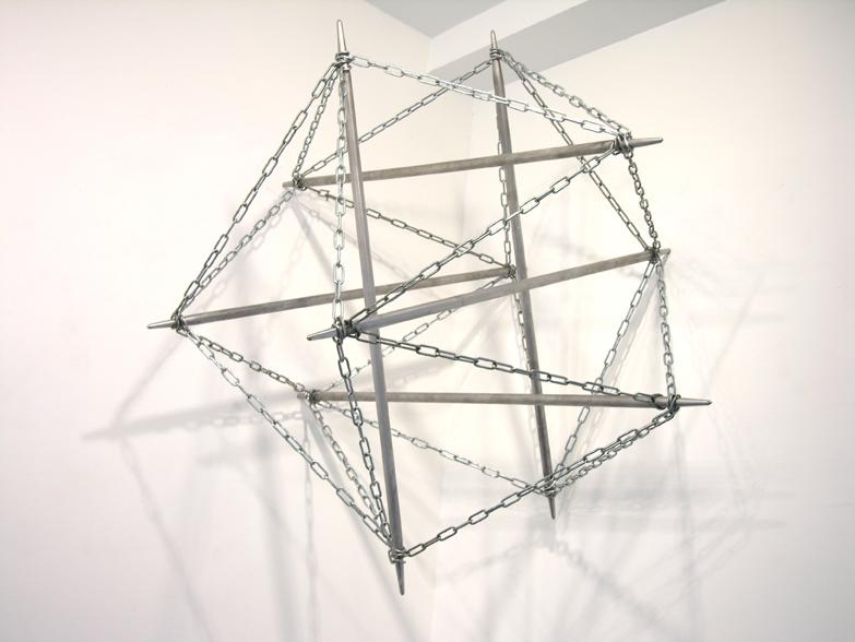 2006, tiges métalliques, chaines, oeuvre unique