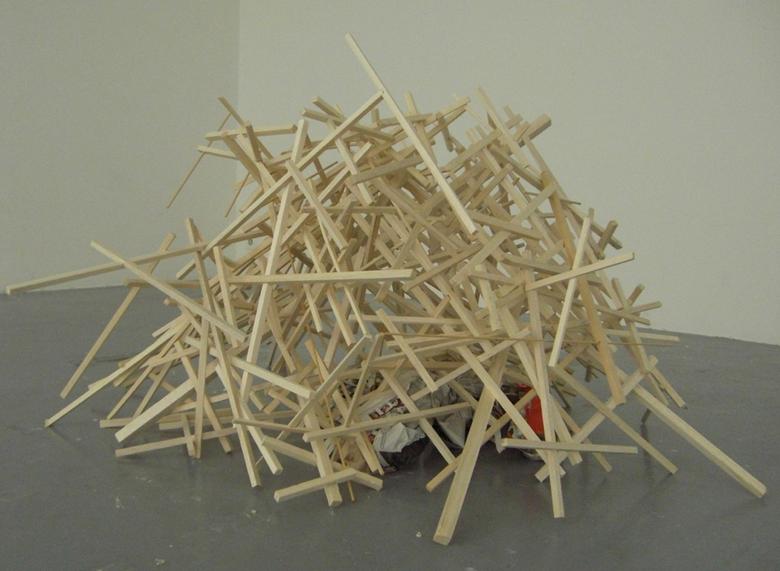 Architecture de feu, 2008 Technique mixte oeuvre unique