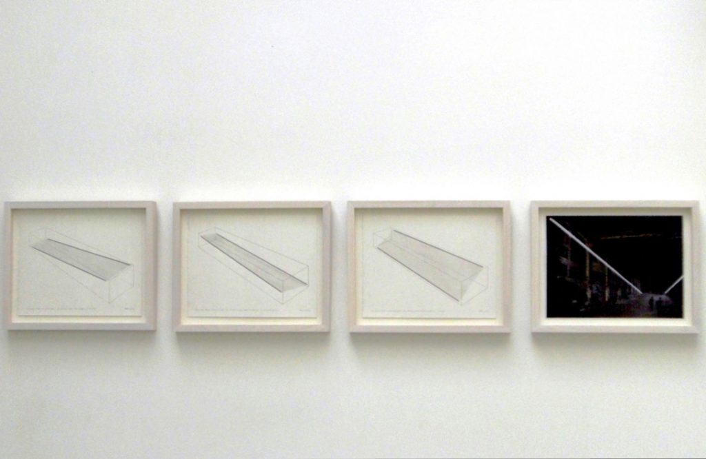 2008, suite of three pencil drawings on paper and one chromogenic print on paper, each 21.5cm x 28cm, unique works