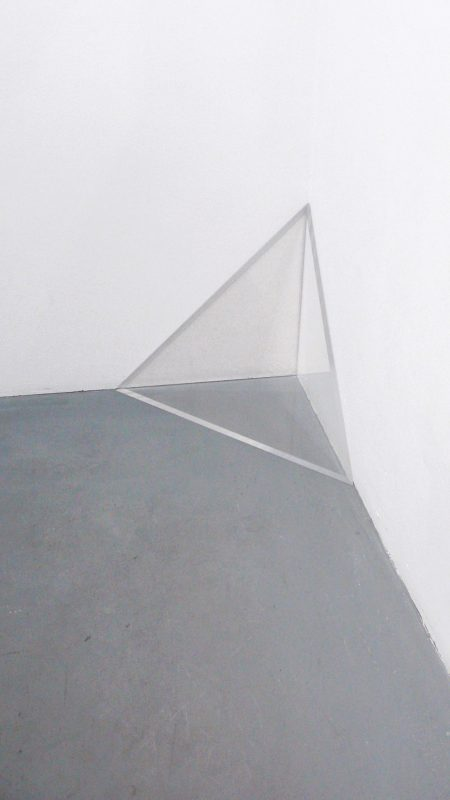 2011, plexiglas, four pieces forming 2 equilateral triangles of 50 cm and 1 cm thick