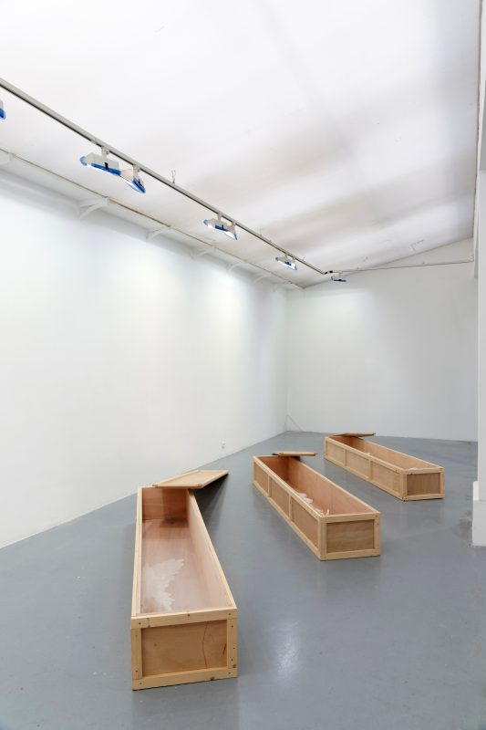 2011, wood, wax, 45 x 230 x 31 cm each box