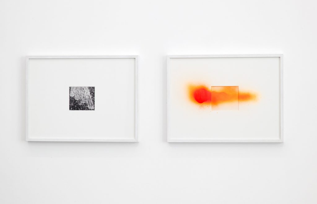 2011, photograph on Canson paper, spray can paint, 30 x 40 cm (x 2), edition of 3