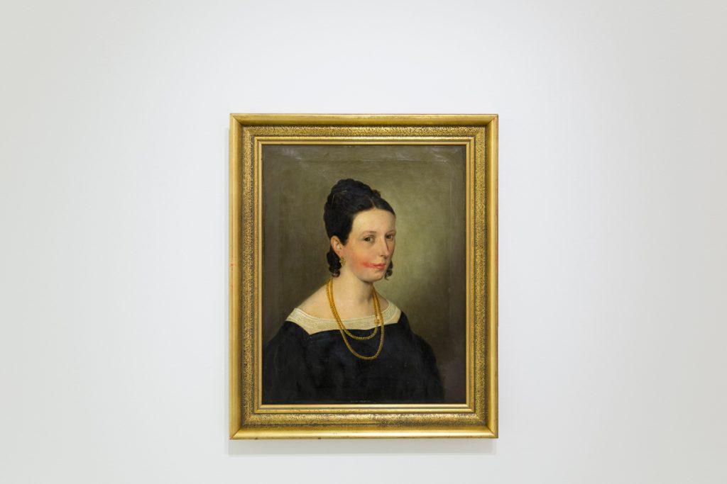 oil painting on canvas, framed, 65 x 53 cm