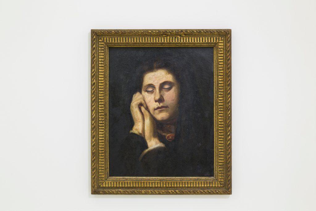 oil painting on canvas, framed,53 x 46 cm