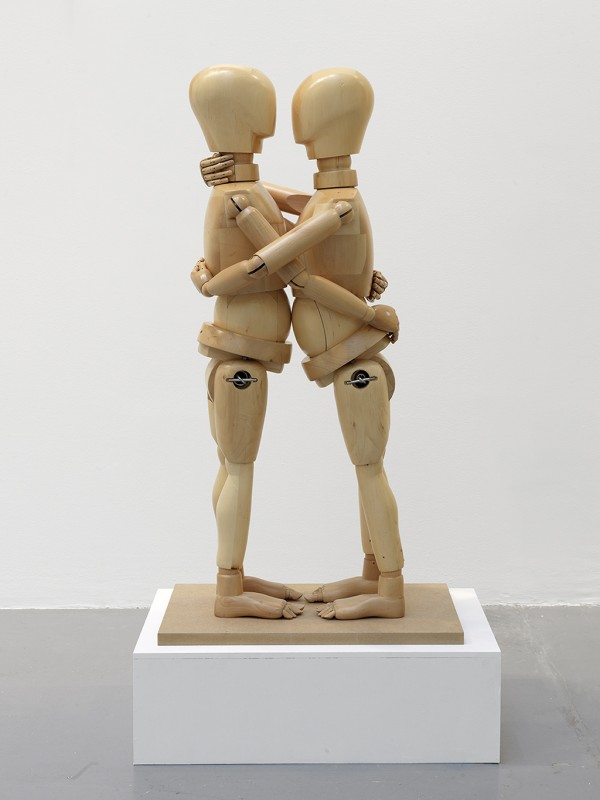 wooden sculpture, 105 x 55 x 40 cm
