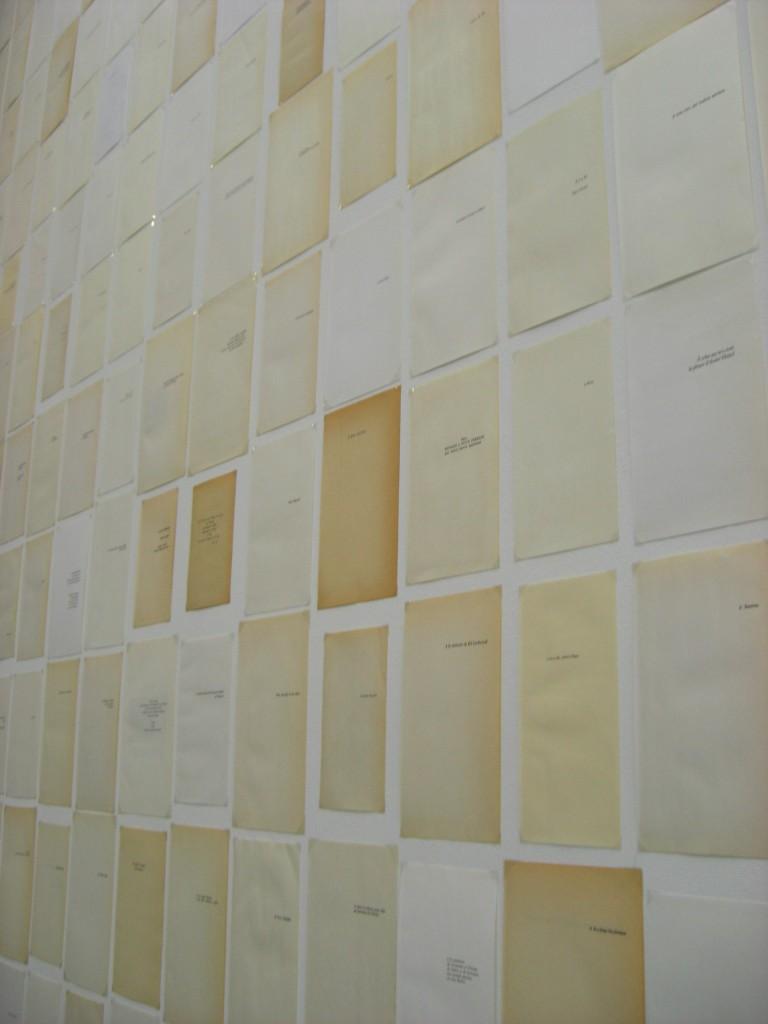2013, 627 papiers imprimés, dimensions variables, oeuvre unique