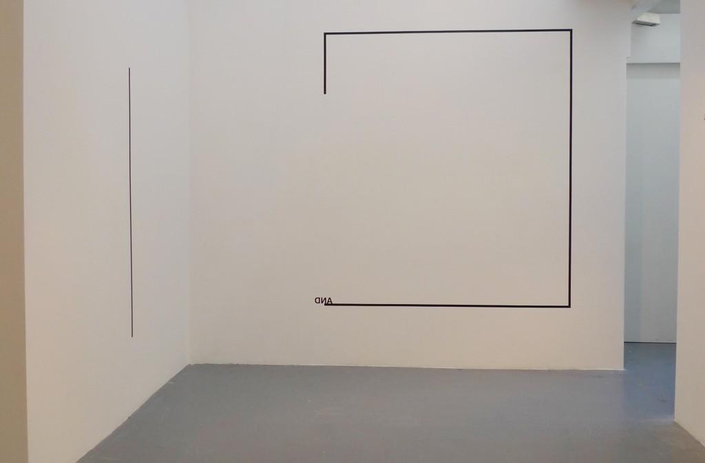 WALL PIECE 2012 vinyl adhésif et scotch noir dimensions variables oeuvre unique