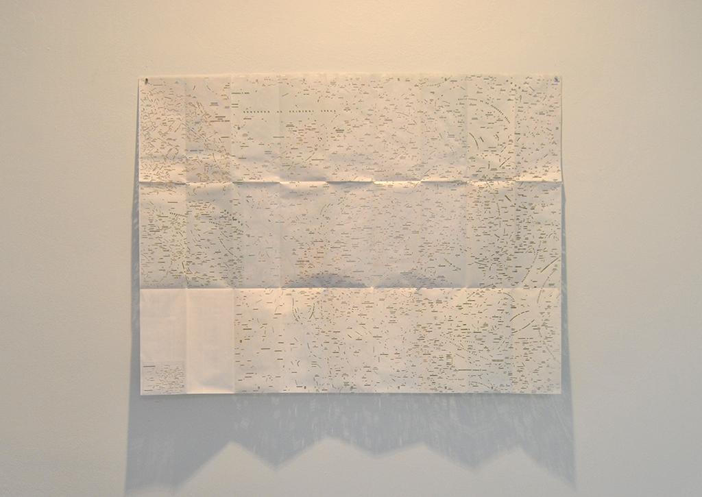 2014, carte ING découpée, 99 x 75 cm, œuvre unique