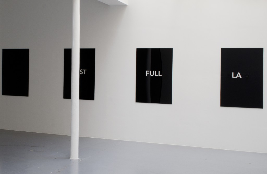 2014, 4 units, plexiglass (black and transparent), 120 x 80 cm each, edition of 5