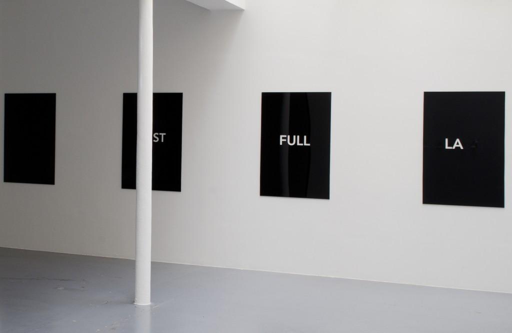 2014, 4 units, plexiglass (black and transparent), 120 x 80 cm each, edition of 5