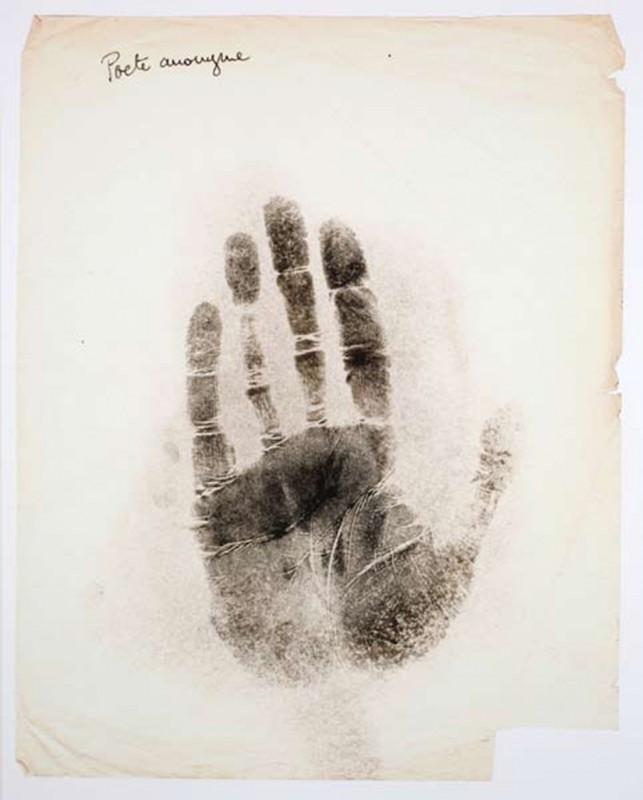 Poète anonyme, print on paper, 75 x 60 cm