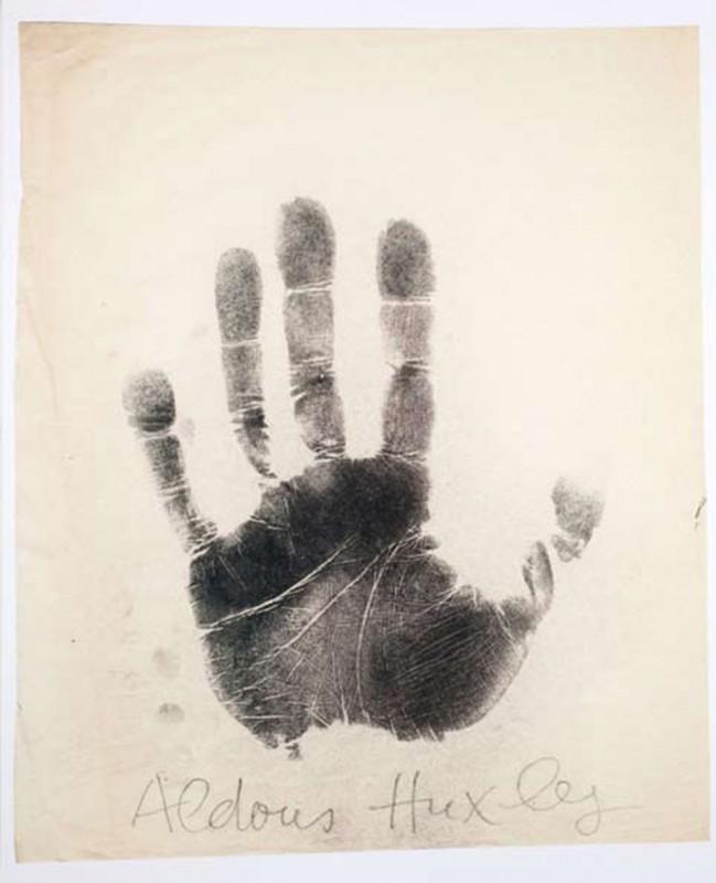 Aldous Huxley, print on paper, 75 x 60 cm