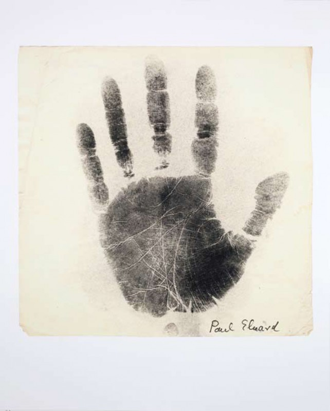 Paul Eluard, print on paper, 75 x 60 cm