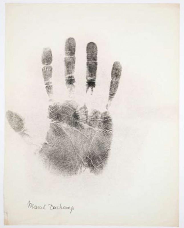 Marcel Duchamp, print on paper, 75 x 60 cm