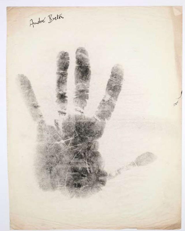 André Breton print on paper, 75 x 60 cm