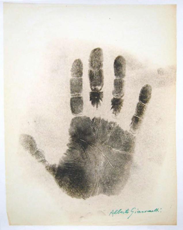 Alberto Giacometti print on paper, 75 x 60 cm