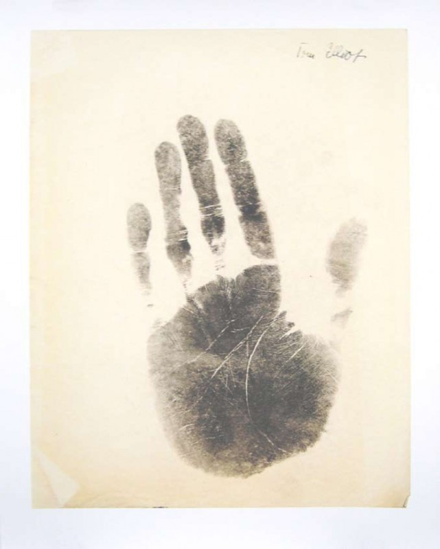 T.S. Elliot, print on paper, 75 x 60 cm