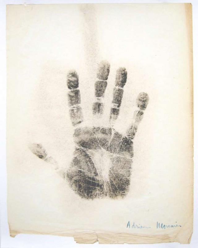 Adrienne Monnier, print on paper, 75 x 60 cm