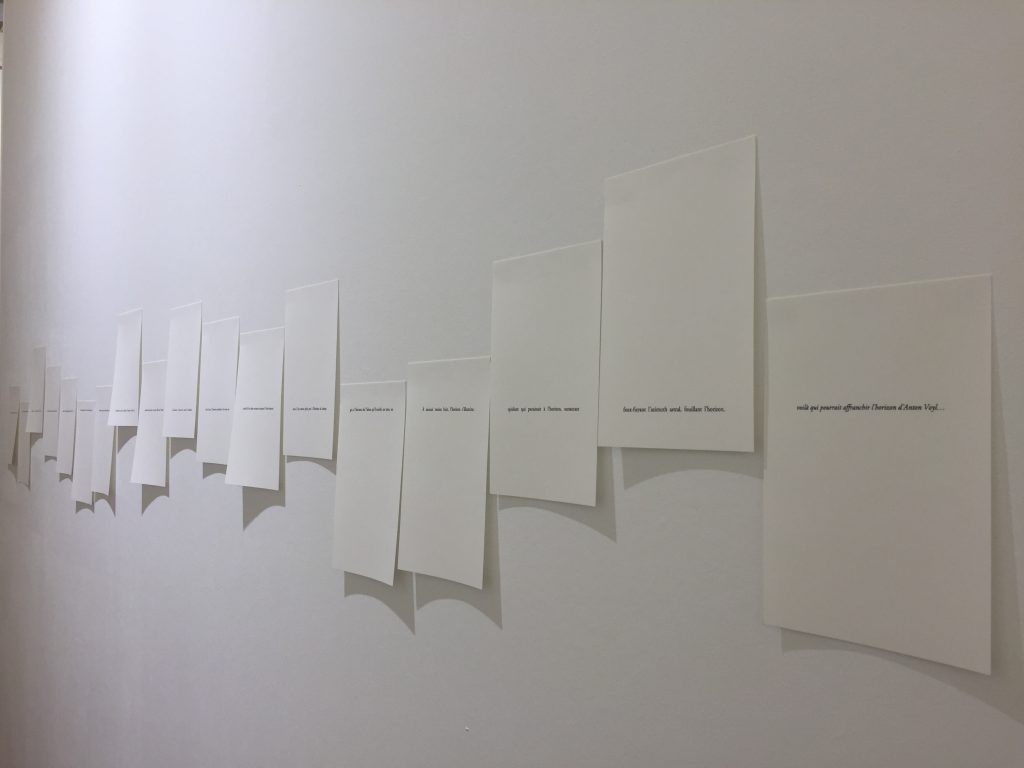 2017, inkjet on paper, 19 pages, dimensions variable, unique work in a series