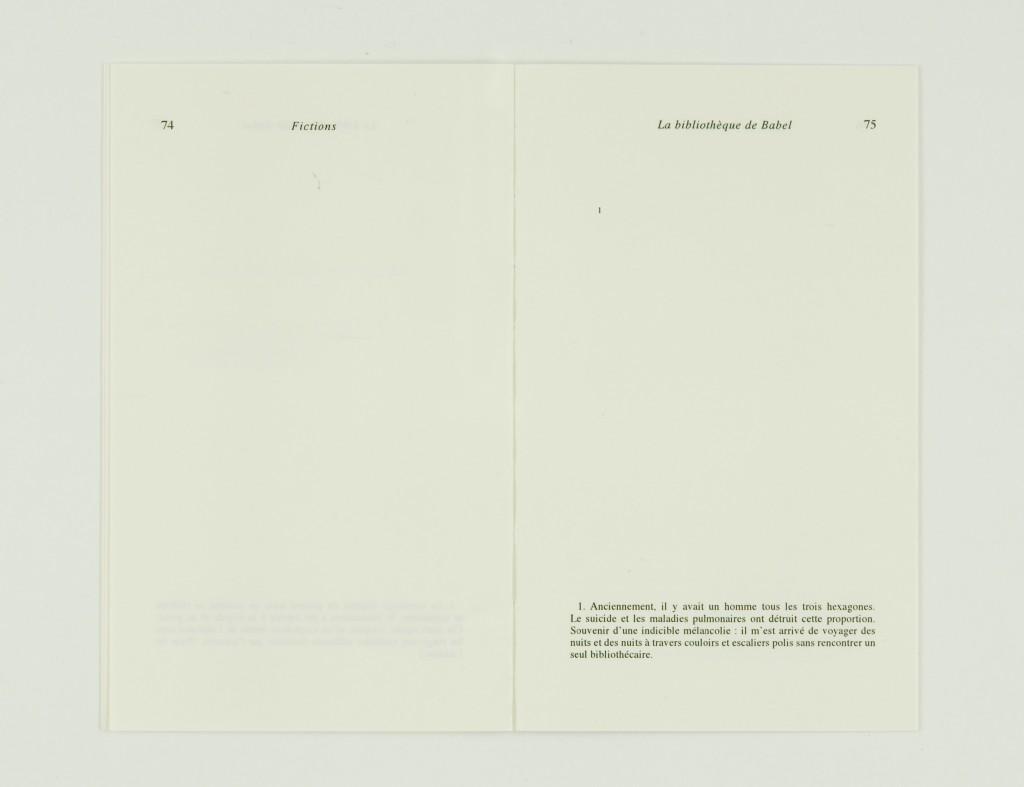2009, édition brochée, 10,8 x 17,8 cm, 16 pages imprimées sur papier vélin 90g, couverture sérigraphiée, édition de 80 exemplaires numérotés et signés