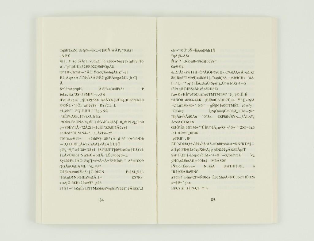 2008, diptyque, édition de 4 exemplaires <br> – livre, 8 x 11,5 cm, 180 pages, impression numérique, couverture sérigraphiée  <br> – son, durée : 9 sec, fichier MP3
