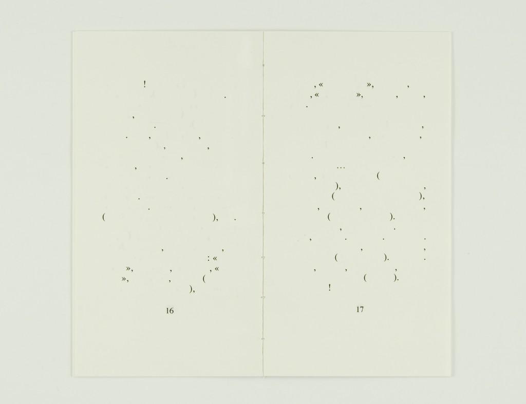 2008, édition brochée, 10 x 18 cm, 20 pages imprimées sur papier vélin 90g, couverture sérigraphiée, édition de 80 exemplaires numérotés et signés