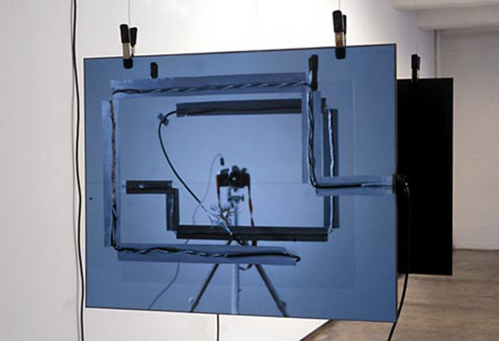 2003, 2 photos electroluminescent, electric wires, transformer, 76 x 61 x 1 cm each, unique work