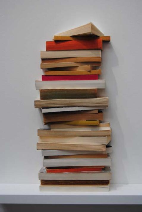 Juillet / Août 2013, 29 livres fragmentés, dimensions variables, œuvre unique
