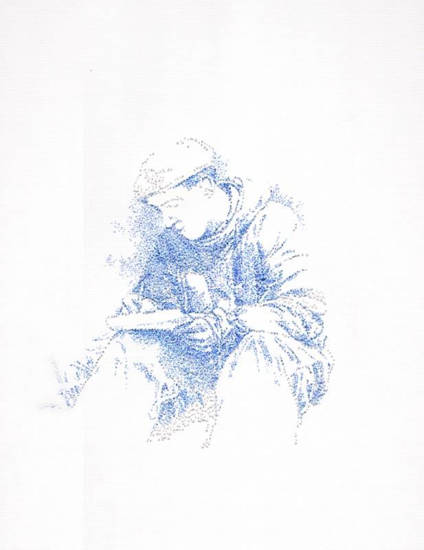 2014, encre sur papier, 30 x 40 cm, encadré, oeuvre unique