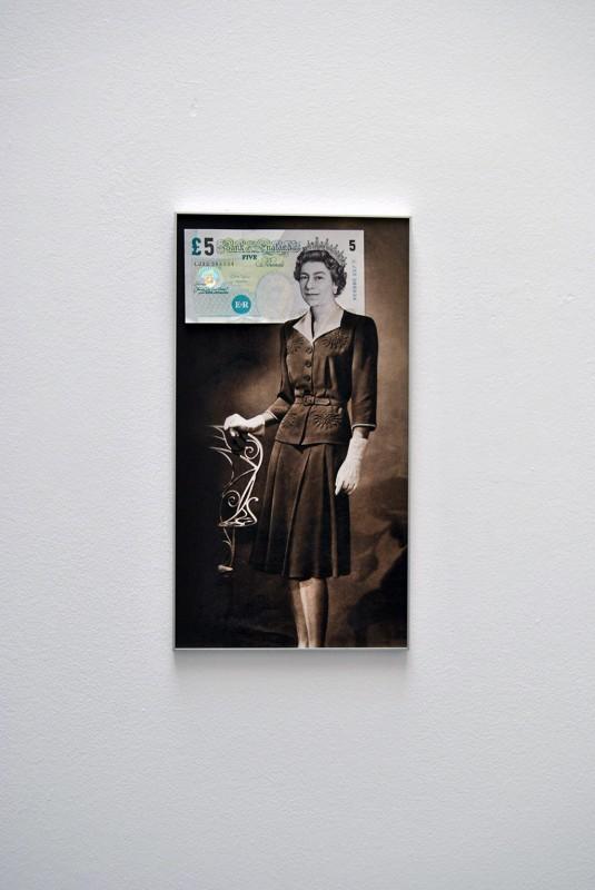 collage framed, 33 x 18 cm