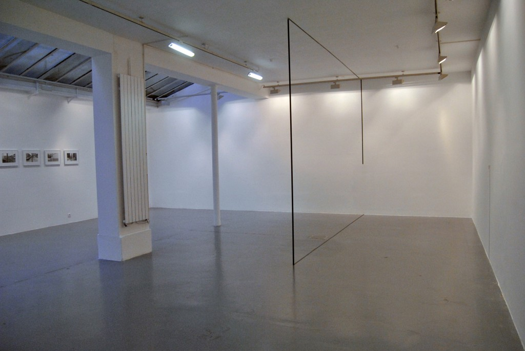 2013, room piece, metal pipe, tape and adhesive letters, dimensions variable, unique work