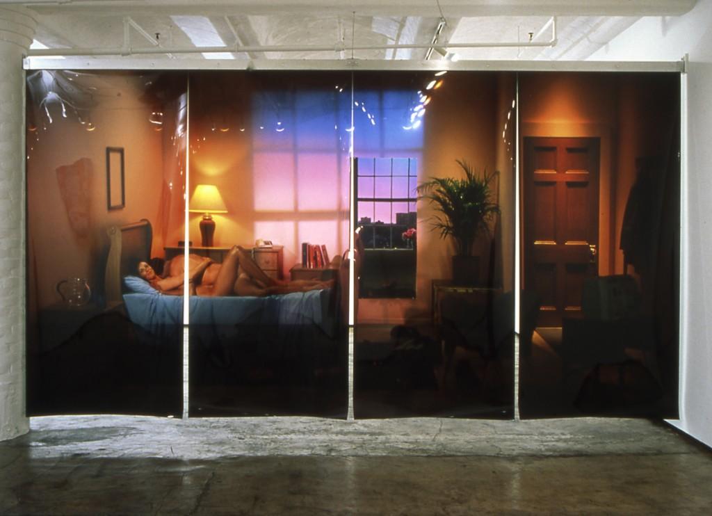 2003 4 photographies transparentes 259 x 122 cm chaque 259 x 488 cm en tout oeuvre unique