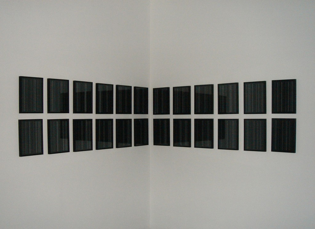 2007, inkjet on paper, set of 24 framed units, 32,5 x 23 cm each, unique work