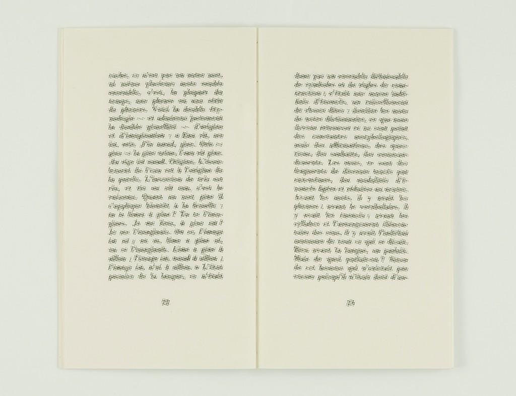 2008, édition brochée, 12 x 20,5 cm, pages imprimées sur papier vélin 90g, couverture sérigraphie, édition de 40 exemplaires numérotés et signés