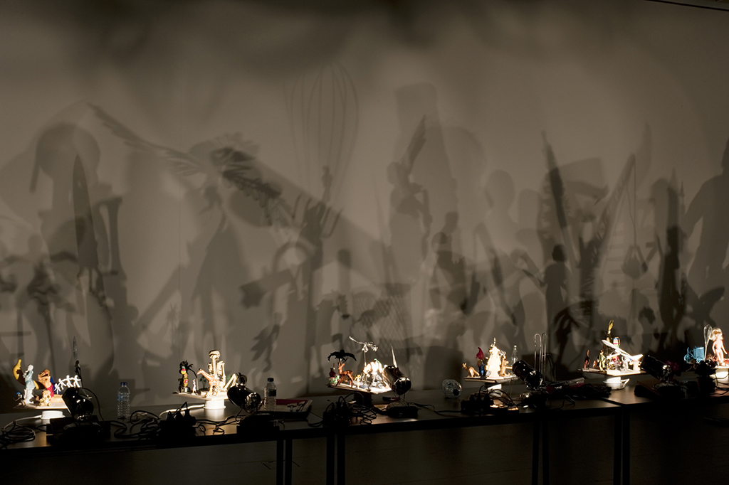 objects and lamps, dimensions variable