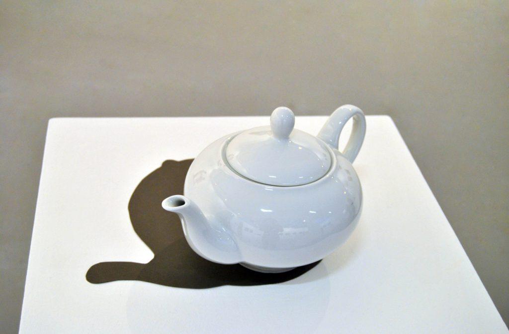 teapot, black paper, dimensions variable