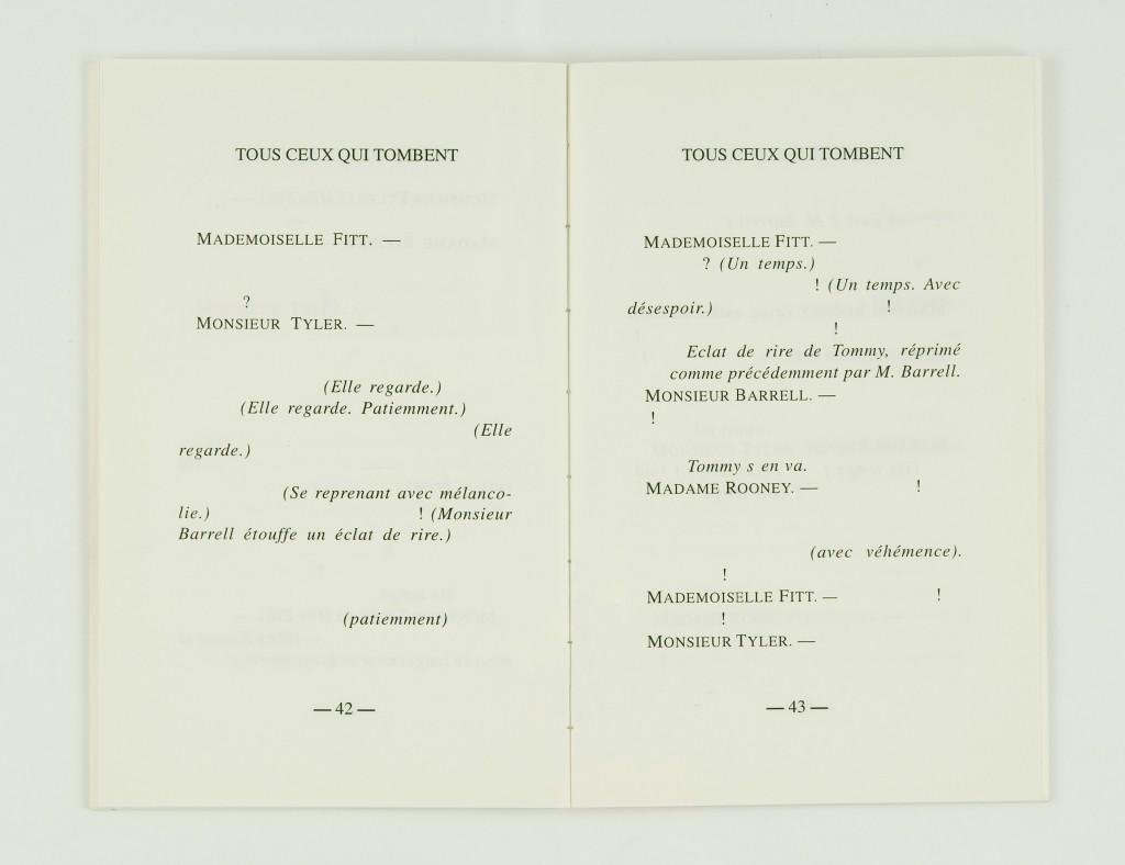 2007, édition brochée, 11,5 x 18 cm, 80 pages imprimées sur papier vélin 90g, couverture sérigraphiée, édition de 60 exemplaires numérotés et signés