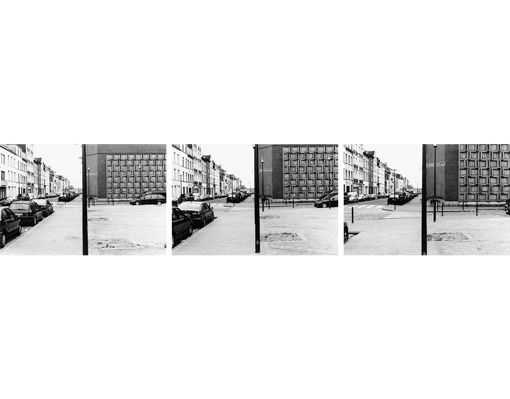 2004, triptych framed, three b/w photos,  each 15 x  22,5 cm, together in a framed 46 x 91 cm, edition of 10