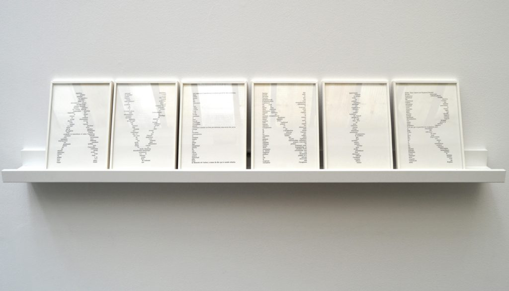 2016, ink-jet on paper, polyptych (6 parts), 21 x 15 cm each, unique work