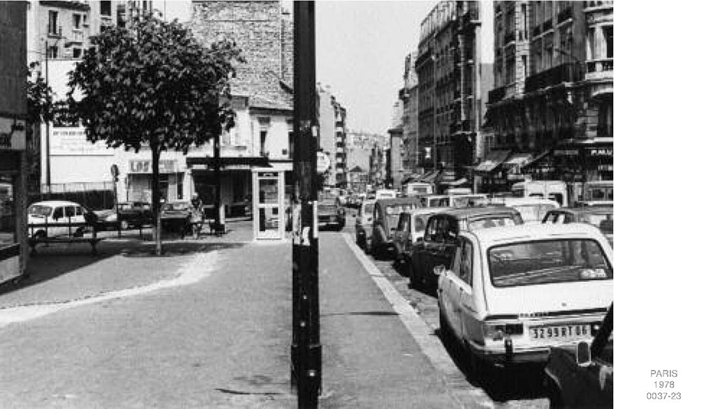 1978, Paris (0037_23), part of a set of 7 b/w photos framed, 20 x 30 cm, in a frame 33,5 x 43,5 cm, edition of 3