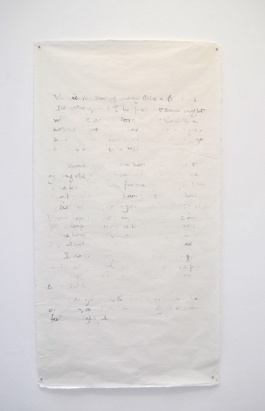 2014, ensemble de 5 dessins sur papier japon, 146 x 84 cm chacun, oeuvre unique