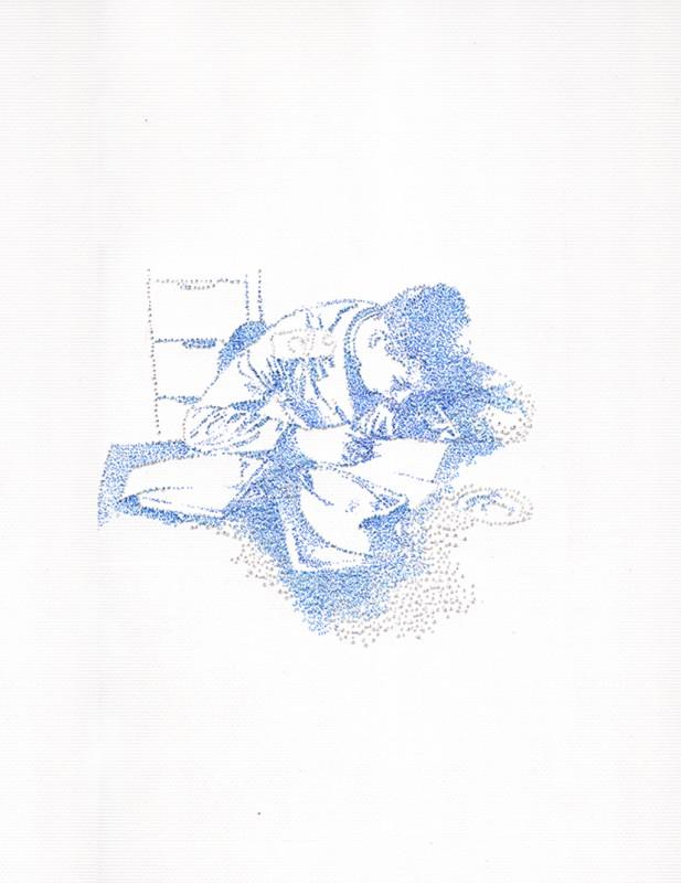 2014, encre sur papier, 30 x 24 cm, encadré, oeuvre unique