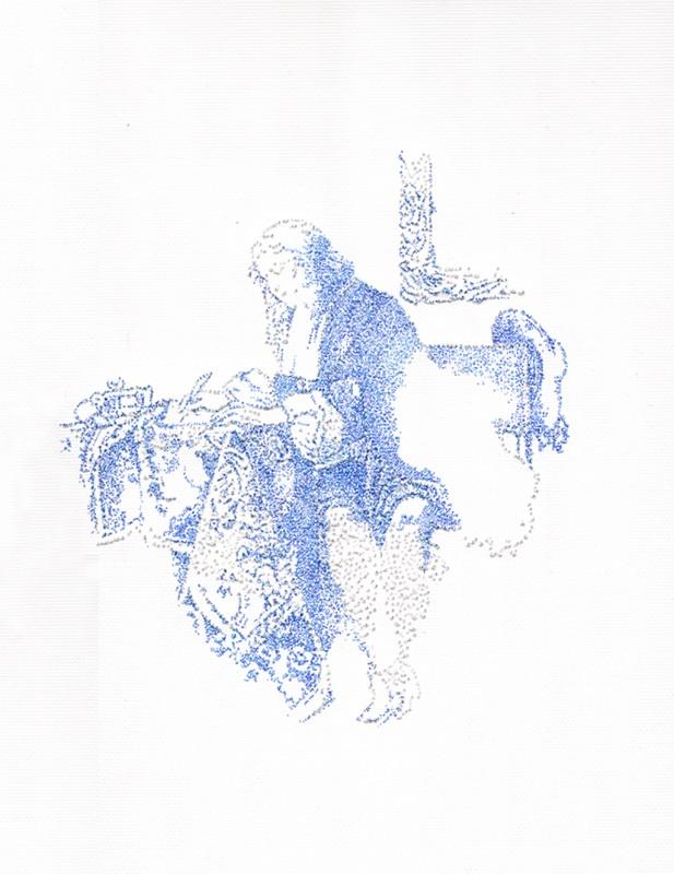 2014, encre sur papier, 28 x 33 cm, encadré, oeuvre unique