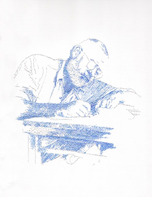 2014, encre sur papier, 33 x 28 cm, encadré, oeuvre unique