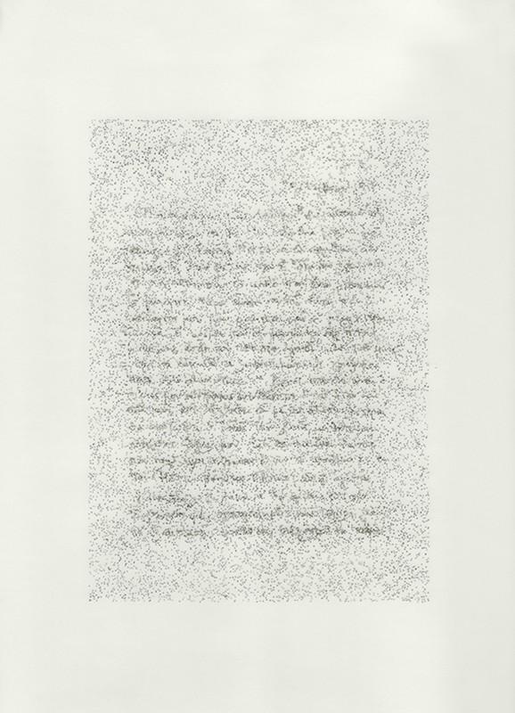 2014, dessin à l'encre sur papier calque sous plexiglas, diptyque, 32 x 24 cm chacun, oeuvre unique