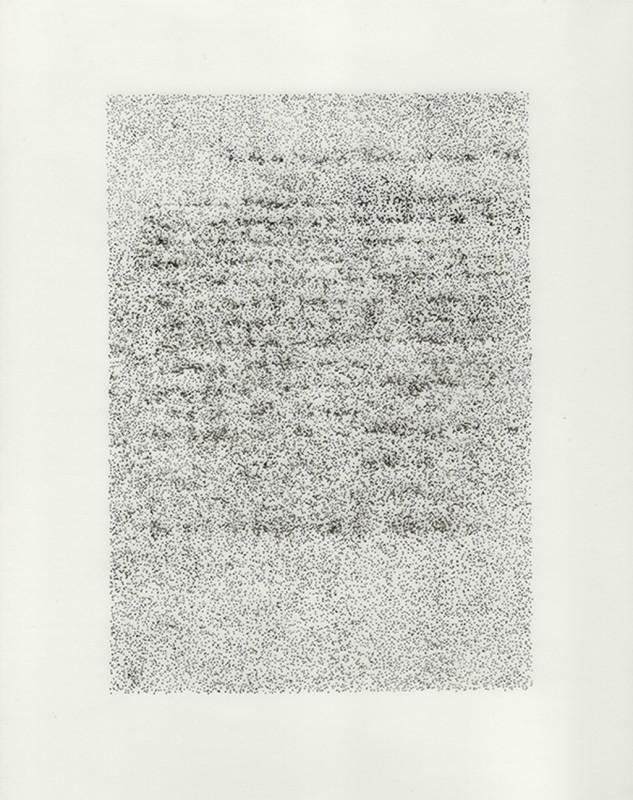 2014, dessin à l'encre sur papier calque sous plexiglas, 32 x 24 cm, oeuvre unique