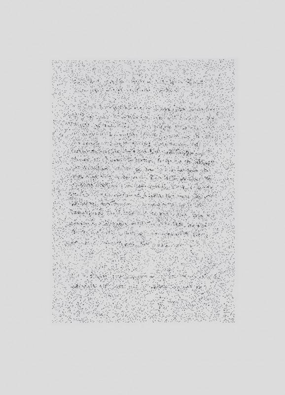 2014, dessin à l'encre sur papier calque sous plexiglas, triptyque, 32 x 24 cm chacun, oeuvre unique